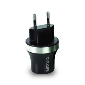 Astrum Dual USB Wall Charger 2.1 Amp - CH220 - Silver