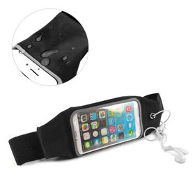 Tuff-Luv Waterproof Sports Runners Waist Bag Pouch for iPhone 6s Plus - Black
