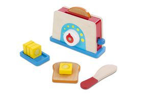 Melissa & Doug Let's Play House! Toaster, Bread and Butter Set