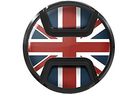 Kaiser Snap On Lens Cap Union Jack 77mm
