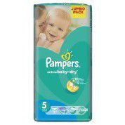 Pampers - Active Baby Nappies - Size 5 - Jumbo Pack (52 count)