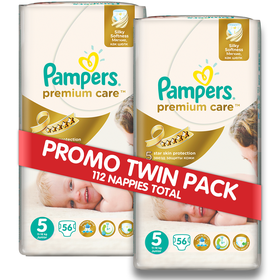 Pampers - Premium Care Nappies - Size 5 - (2 x 56 count)