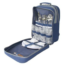 Eco - 4 Person Picnic Backpack - Navy
