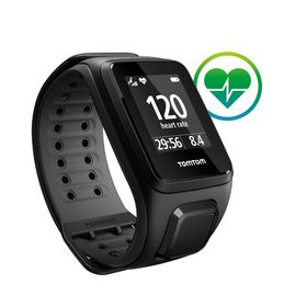 TomTom Spark Cardio GPS Fitness Watch - Large - Black