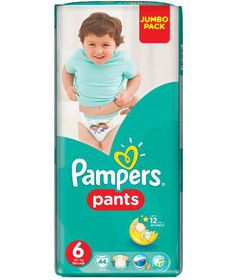 Pampers - Active Baby Nappy Pants - Size 6 - Jumbo Pack (44 count)