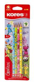 Kores Grafitos Fantasy HB Pencils - Blister of 4