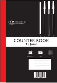 Freedom Stationery 1-Quire 96 Page A4 Q&M Counter Book