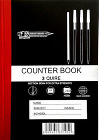 Freedom Stationery 3-Quire 288 Page A4 Q&M Counter Book (5 Pack)