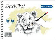 Marlin A4L 25 Leaves Sketch Pad Side Spiral (10 Pack)