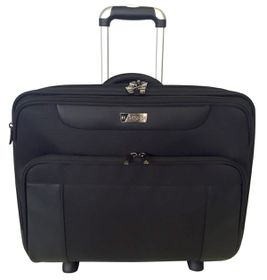 "Elegant 17"" Laptop Trolley Briefcase - Black"