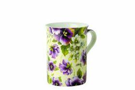 Maxwell and Williams - Cream Pansy Mug