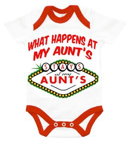 """The Funky Shop - """"What happens at my Aunts - stays at my Aunts"""" Baby Grower"""