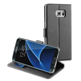 Muvit Wallet Case For Galaxy S7 Edge - Black