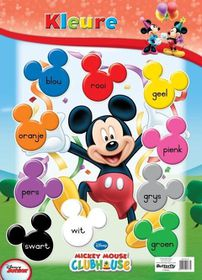 Butterfly Wallchart - Mickey Mouse Kleure