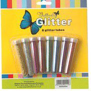 Butterfly 8 Small Glitter Shakers