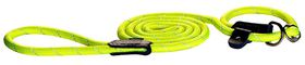 Rogz - Rope Large 1.2cm 1.8m Long Moxon Dog Rope Lead - Dayglo Yellow Reflective