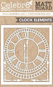 Celebr8 Matt Board Midi - Ornate Clock Element