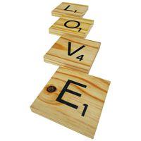 """Prettish Scrabble Coasters - """"LOVE"""" - Set of 4"""