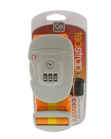 Go Travel TSA Combination Strap - Orange