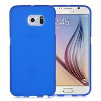 Blue Frosted Samsung Galaxy S7  Silicone Gel Skin Cover Case