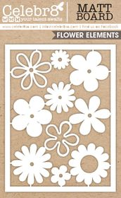 Celebr8 Matt Board Equi - Flowers Card