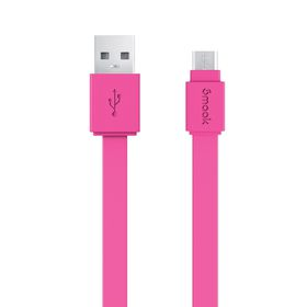Smaak Micro USB 2.0 Flat 1.5M Cable - Pink