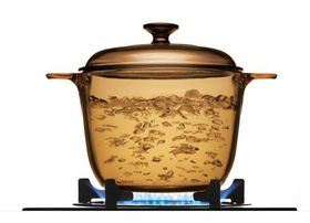 Visions - 3.5 Litre Covered Cookpot - Amber