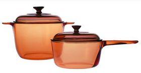 Visions - 4 Piece Cookpot Saucepan Set - Amber