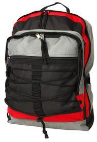 Gotcha Student Laptop Backpack - Black-Grey-Red