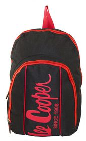 Lee Cooper Contrast Backpack- Small -Black Red