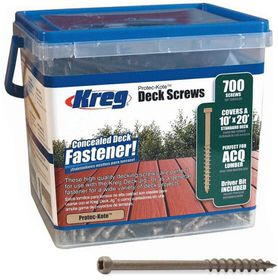 Kreg - Protec-Kote Deck Screws 2 Inch 8 Coarse Pan Head - 700Ct