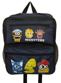 Parco Kiddy Monster Backpack - Navy