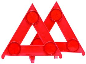 Fragram - 2 Piece Car Triangle Warning - Red