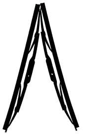 Fragram - Wiper Blades 14 inch Per Pair - Black