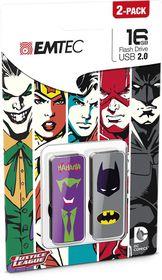 Emtec Usb 2.0 M700 16Gb Super Heroes - 2 Pack - Joker And Batman