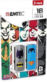 Emtec Usb 2.0 M700 16Gb Super Heroes - 2 Pack - Batman And Superman