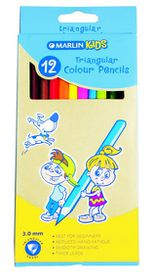 Marlin Kids 12 Triangular Colour Pencils