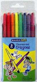 Marlin Kids 8 Retractable Fluorescent Crayons