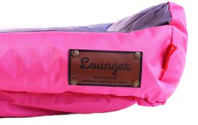 Dog's Life - Retro Lounger Waterproof Winter Bed in Pink XXL