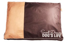 Dog's Life - Sweet Dreams Cushion in Black - Large