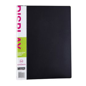 Meeco Executive A4 Display Book 30 Pockets - Black