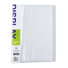 Meeco Executive A4 Display Book 40 Pockets - Clear