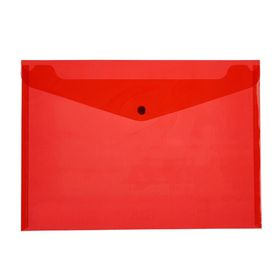 Meeco A4 PP Document Envelope - Red