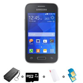 Samsung Young 2 4GB 3G Black - Bundle 2 incl. R1500 Airtime + 1.2GB Starter Pack + Accessories