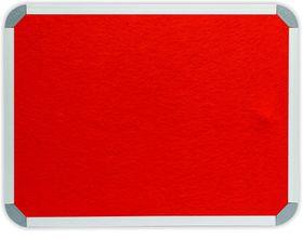 Parrot Info Board Aluminium Frame - Burnt Orange Felt (600 x 450mm)