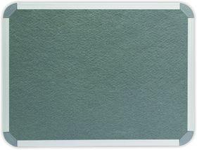 Parrot Info Board Aluminium Frame - Grey Felt (900 x 900mm)