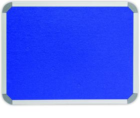 Parrot Info Board Aluminium Frame - Royal Blue Felt (1000 x 1000mm)
