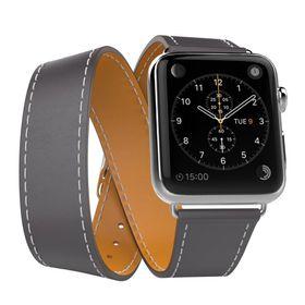 Tek88 Apple Watch 38mm Hermes Graphite Leather Double Tour