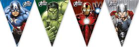 Avengers Power Multihero Triangle Flag Banner