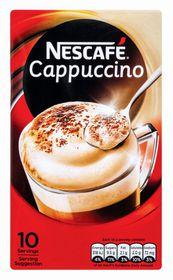Nescafe - Cappuccino Instant Coffee 10 Sachets - 18g